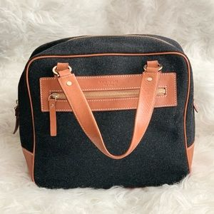 Kate Spade Grey Wool Satchel